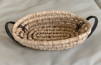 Used Wicker Basket with Leather Handle  in Dubai, UAE