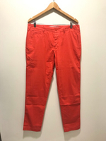 NEW LACOSTE Pants Slim Fit US 33 Red