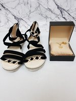 Used Women's Sandals × Necklace & Ring Set in Dubai, UAE