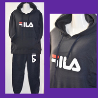 Used Fila Black Casual Suit/ XLarge  in Dubai, UAE