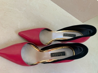 Used Charles & Keith heels in dark pink in Dubai, UAE