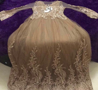 Wedding dress small size light brown
