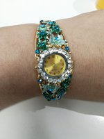 Used Bangle style blue ladies floral watch in Dubai, UAE