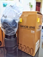 Used nikon lense 55-200 new with box and cove in Dubai, UAE