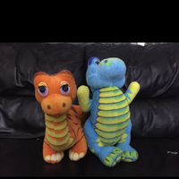 Used Soft Toys - Two dinosaurs From Juniors.
