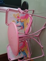 Used Kids pink Table and 2 chairs in Dubai, UAE