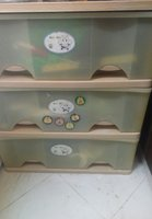 Large size plastic drawers used
