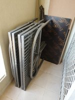 Used Foldable bed & shoe rack in Dubai, UAE