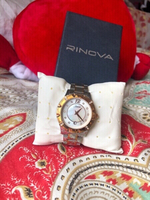 Used RINOVA Watch gold silver with crystal💎  in Dubai, UAE
