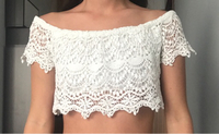 Used White crochet crop top in Dubai, UAE