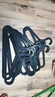 Used 12 pcs ikea black hangers in Dubai, UAE
