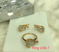 Used SET OF EARRINGS AND RING NON TARNISH  in Dubai, UAE