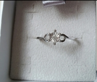 Used Real diamond ring, made in silver size 7 in Dubai, UAE