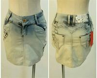 Used Jeanskirt Light Color Available Sizes Never Worn Very Nice Fitting  in Dubai, UAE