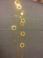 Used Bvlgari necklace plated gold in Dubai, UAE