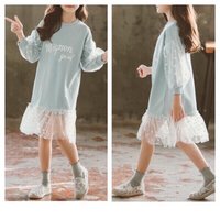 Girls sleeves sweater/dress age 10/160cm