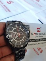 Used 》NAVIFORCE Steel Watch▪︎✔Original ✔New in Dubai, UAE