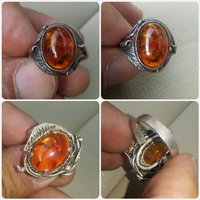 Original antique ring with kahraman ston