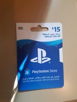 Used PlayStation store 15$ wallet top up in Dubai, UAE