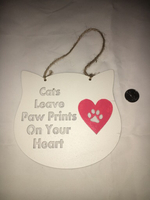 Cat lovers decal.