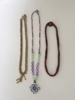 Handmade crystal and bead necklaces