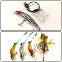 New Thunder Frog, 3Pcs Shrimp, LED Lure