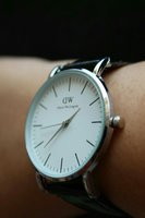 Used -DW- Daniel Wellington Leather Watch▪New in Dubai, UAE