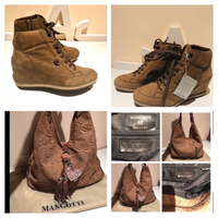 Used Italian leather bag & GEOX boots 37 in Dubai, UAE