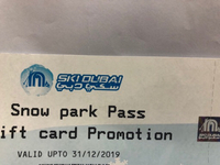 Used Snow park SkiDubai tickets  in Dubai, UAE