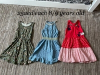 Used Dresses bundle 8/9 years old girl in Dubai, UAE