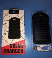 Used Solar Power Bank Charger Black withtorch in Dubai, UAE