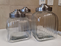 Used 3 kitchen glass canister  in Dubai, UAE