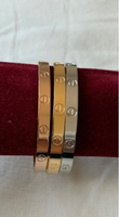 Used 2Cartier bracelet gold/rose gold copy in Dubai, UAE