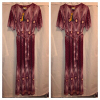 Used Nice long dress with scarf burguy in Dubai, UAE