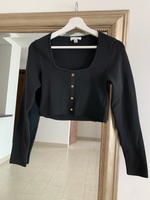 Used TOPSHOP Black Cropped Jumper Size L in Dubai, UAE