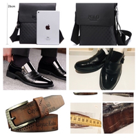 Used Bundle of men's shoes, belt and polo bag in Dubai, UAE