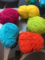 Five quality yarn skeins