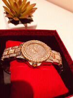 Used Watch Silver/Gold bee sister with stones in Dubai, UAE