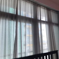 Used Home Centre Grey Sheer Curtains (2sets) in Dubai, UAE