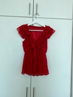 Used red blouse size S in Dubai, UAE