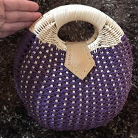 Used Rattan bag medium size (new) in Dubai, UAE