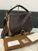 Used Gucci Ebony Techno Horsebit Two way bag in Dubai, UAE