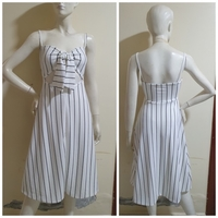 Used White stripe dress;small to medium size; in Dubai, UAE