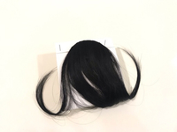 NEW Charming Air Bangs Wig Black 13cm