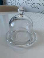 Used Clear Glass Butter Dish with Lid in Dubai, UAE