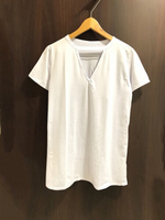 NEW Plain White T-shirt Size M V Neck