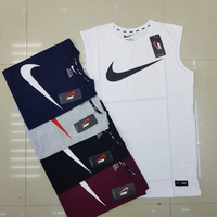 Used Nike check sleeveless 5 pcs large in Dubai, UAE
