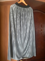 Used Pleated maxi skirt fits up to L silver  in Dubai, UAE