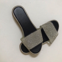 Used Shining  rhinestone slippers size 36)new in Dubai, UAE
