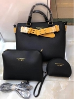 Used PROMO... Ladies bag - Burberry 3pcs in Dubai, UAE